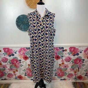 NWT CAbi Amour Heart Print Dress Size Medium